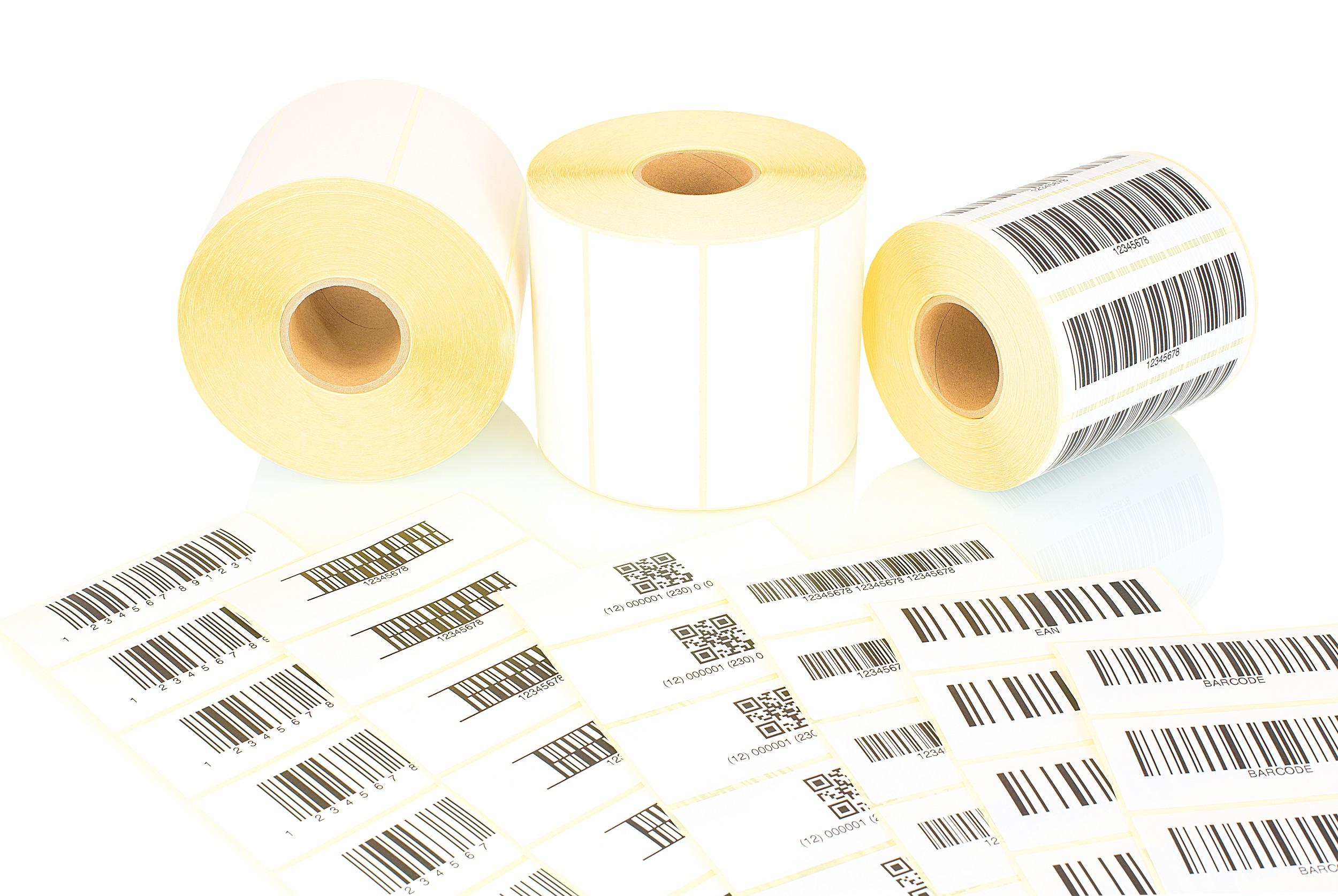 ean kody dotisk etiket label design